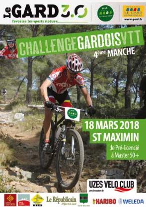 CHALLENGE GARDOIS 4ème manche Uzès – St Maximin – dimanche 18 Mars 2018